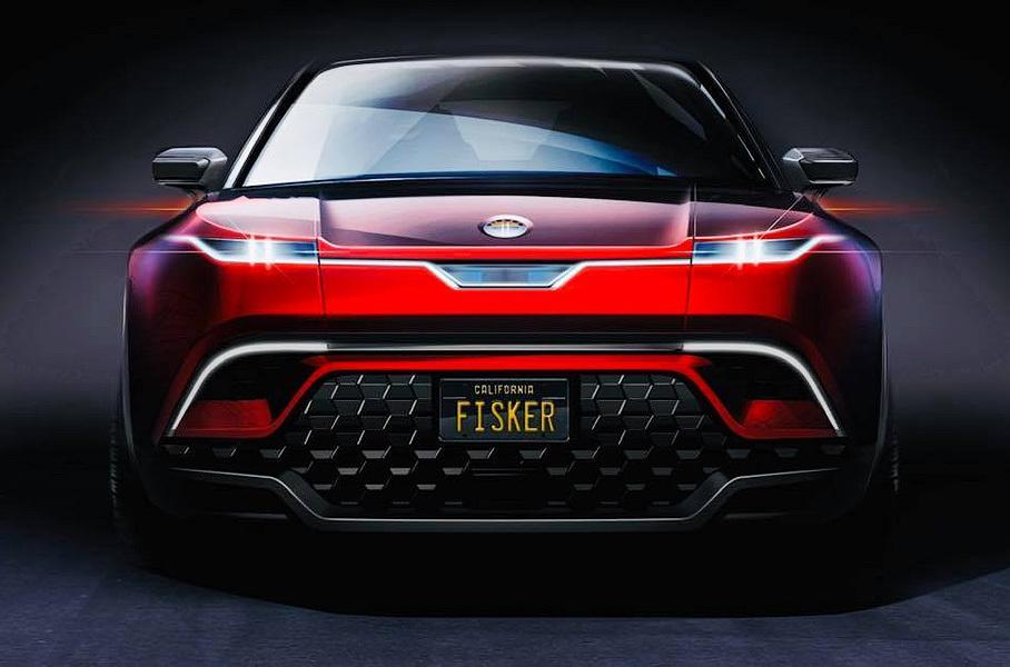 Тизер нового электрокроссовера марки Fisker показали в Сети