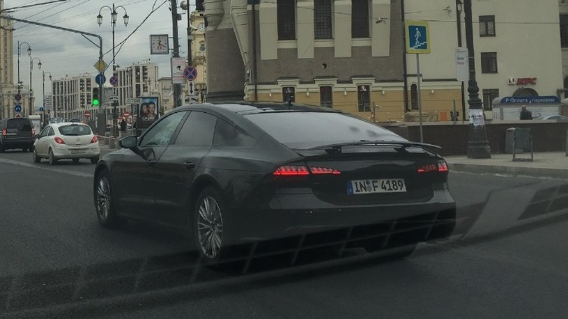 Audi начала тестирование нового Audi A7 на дорогах Москвы