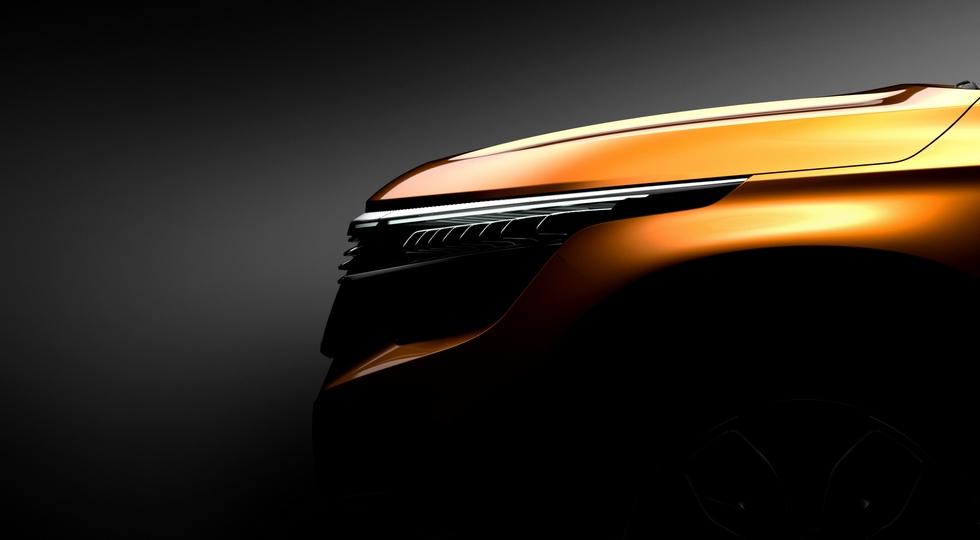 Kia опубликовала тизеры нового кроссовера Kia SP Concept