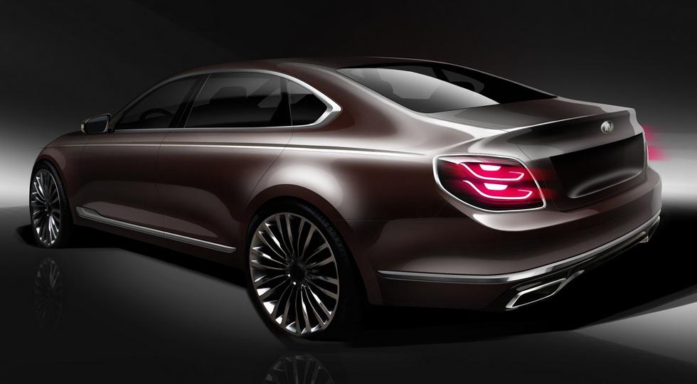 Kia рассекретила дизайн роскошного седана Kia Quoris нового поколения