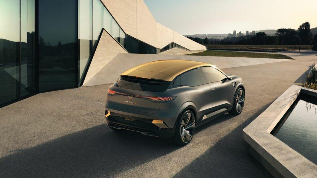 Renault представили концепт Mégane eVision который предлагает взглянуть на будущую линейку электромобилей