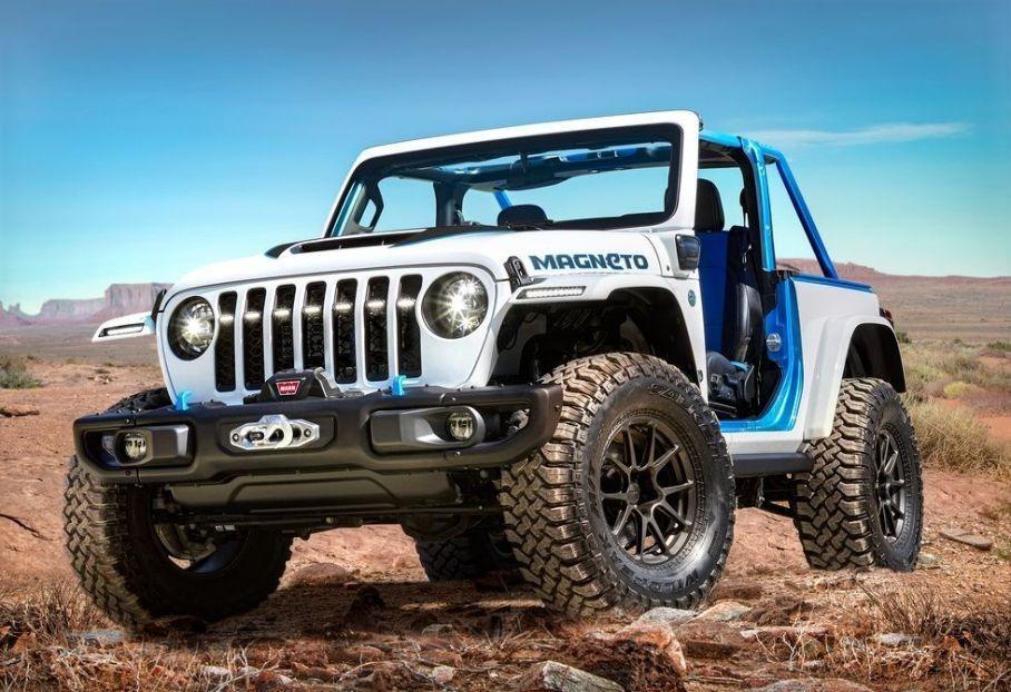 Компания Jeep показала электрический внедорожник Magneto Concept 2021 года