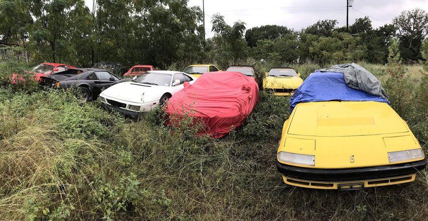В США найдена брошенная в поле коллекция моделей Ferrari
