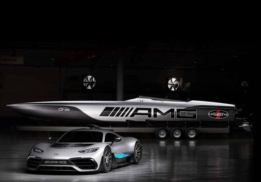 AMG продемонстрировал 3100-сильный катер вдухе Project One
