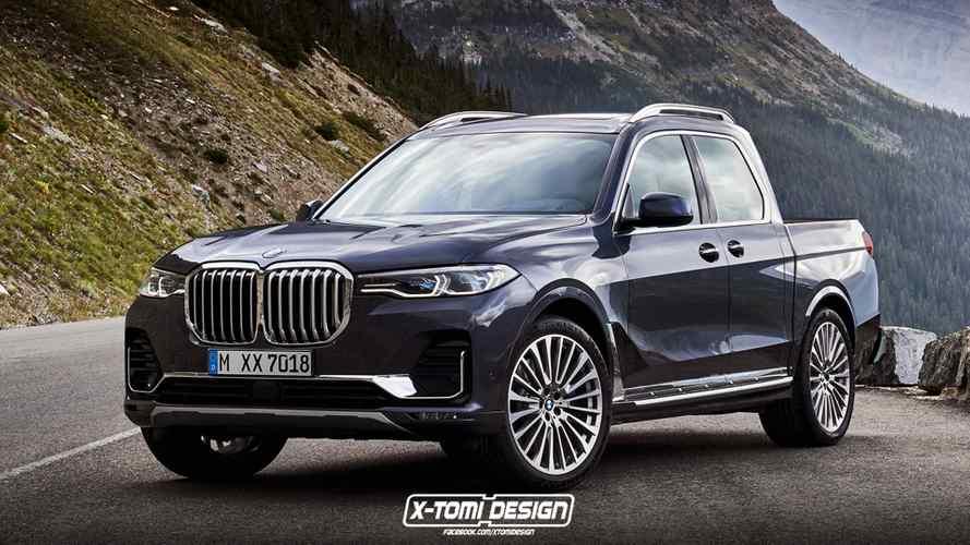 Новый пикап на базе кроссовера BMW X7 представили на рендере