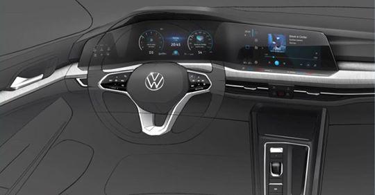 Интерьер нового Volkswagen Golf показали вживую