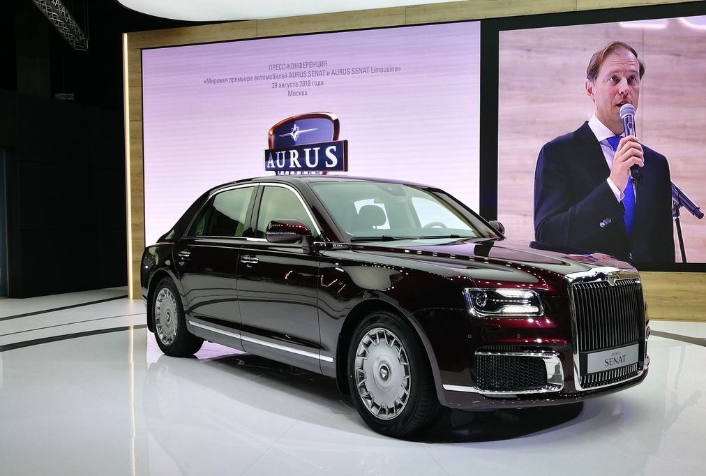 На автомобили Aurus поступили первые заявки из-за рубежа