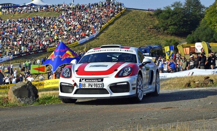 Новый раллийный Porsche Cayman GT4 Clubsport Rally прошел этап WRC