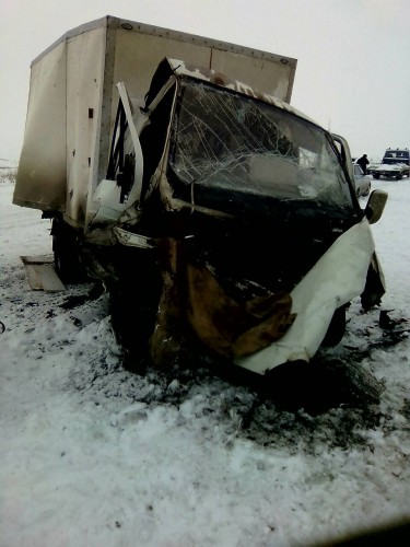 ГАЗель и Volvo лоб в лоб столкнулись на объездной в Орске