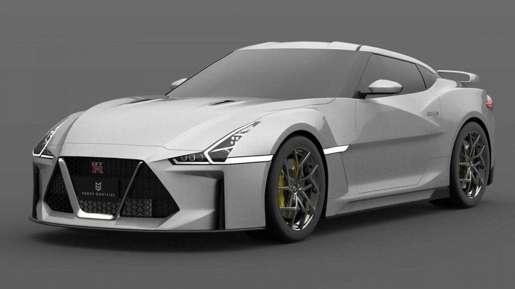 Следующее поколение Nissan GT-R показали на реалистичных рендерах