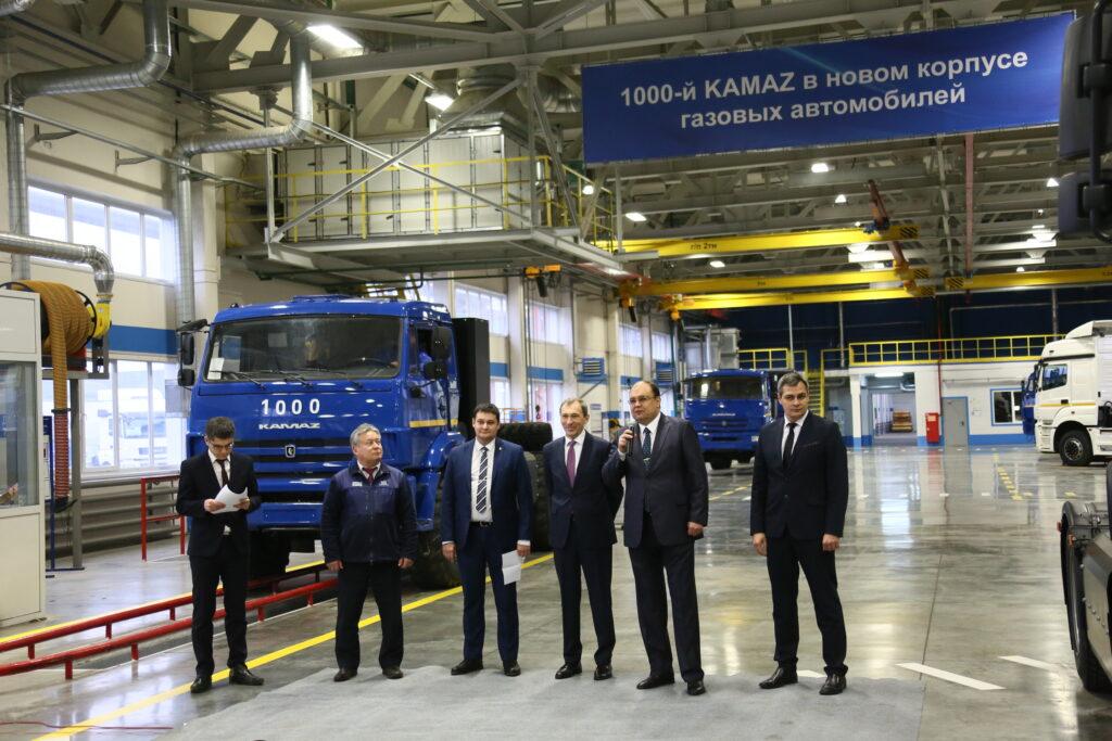1000-й газомоторный автомобиль выпустили в новом корпусе КАМАЗа