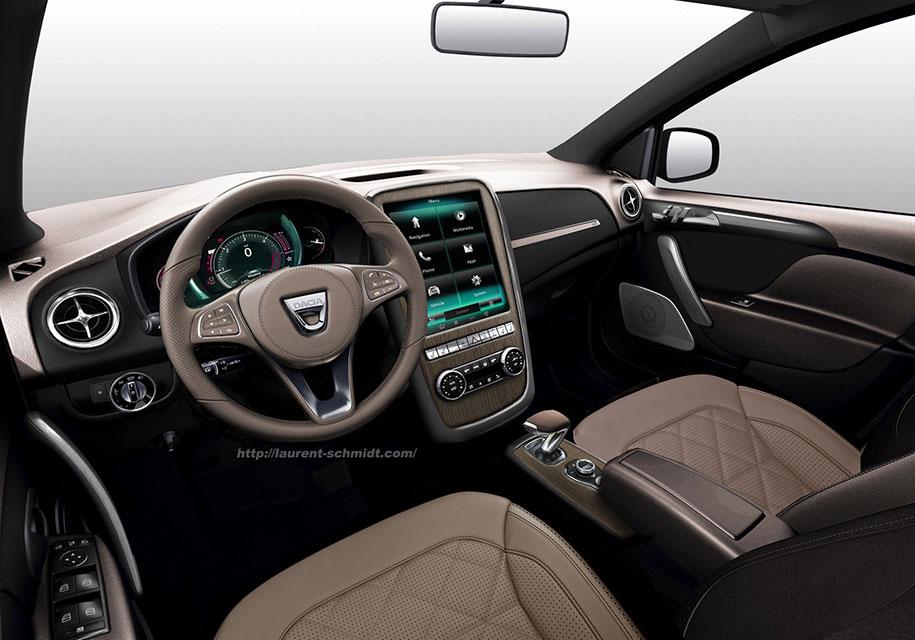 Дизайнер показал роскошный седан Logan с салоном от Mercedes-Benz