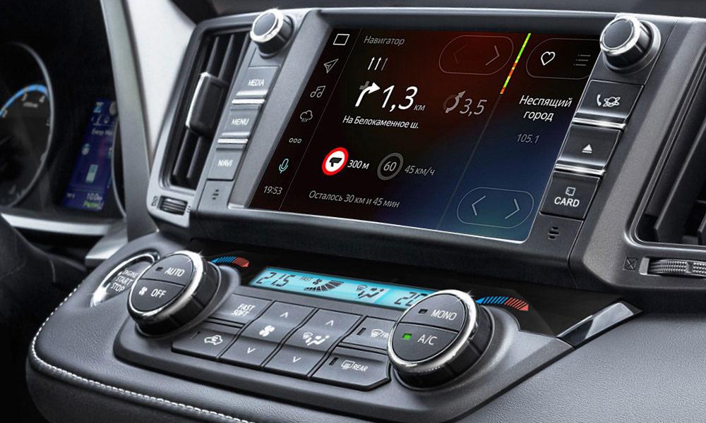 Toyota начала продажи Camry и RAV4 с «Яндекс.Авто» и Интернетом