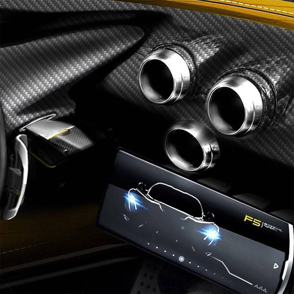 Тюнинг-ателье Hennessey впервые показало салон гиперкара Venom F5