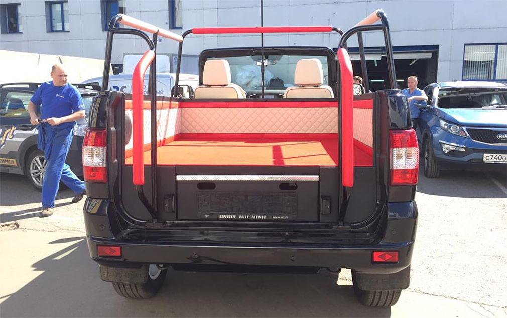 УАЗ выпустил кабриолет на базе внедорожника УАЗ Patriot