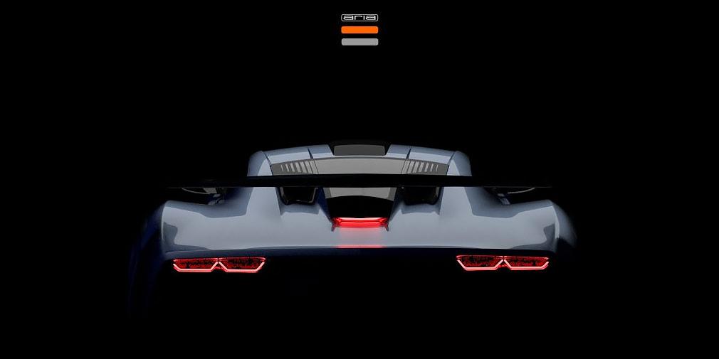 Aria Group опубликовала тизеры загадочного суперкара Aria FXE
