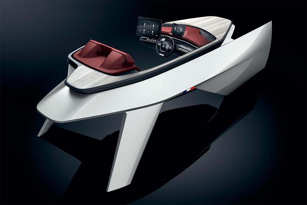 Peugeot и Beneteau показали интерьер роскошной яхты Sea Drive