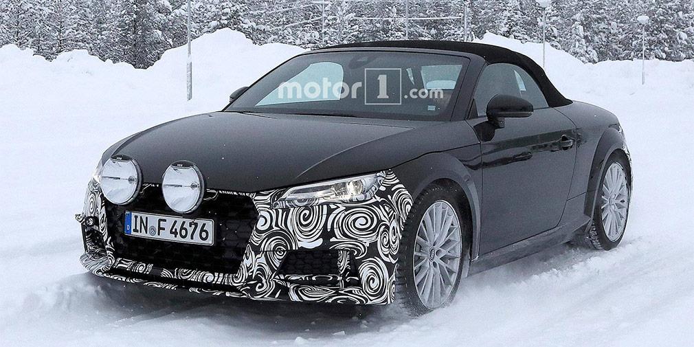 Audi вывела на тесты обновленный родстер Audi ТТ