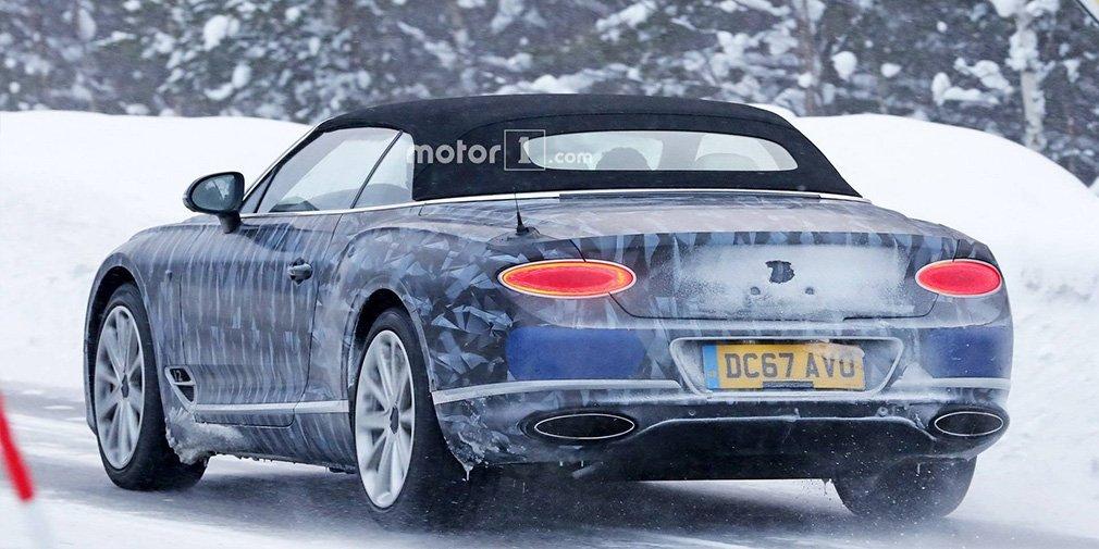 Bentley начала тесты кабриолета Continental GT в зимних условиях