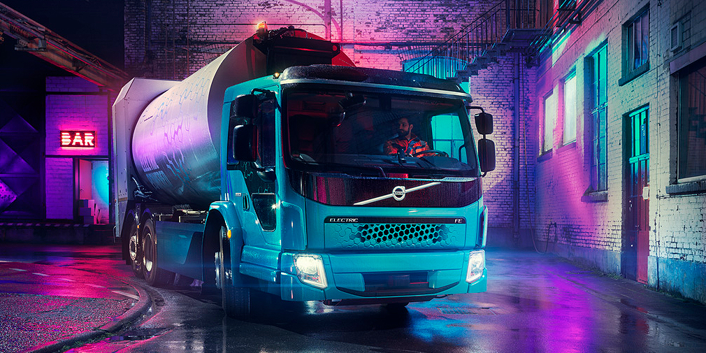 Volvo представила электромусоровоз Volvo FE Electric