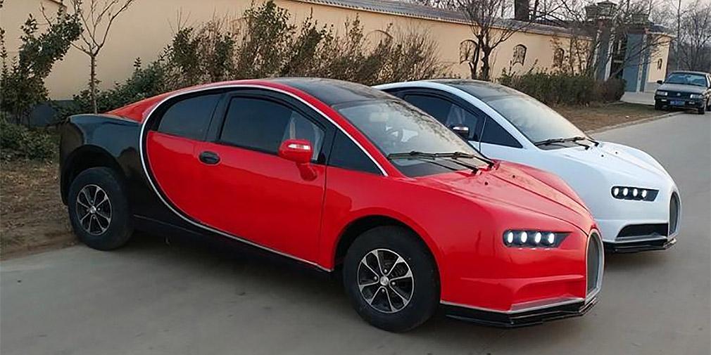 Китайцы создали копию Bugatti Chiron стоимостью в 300 тысяч рублей