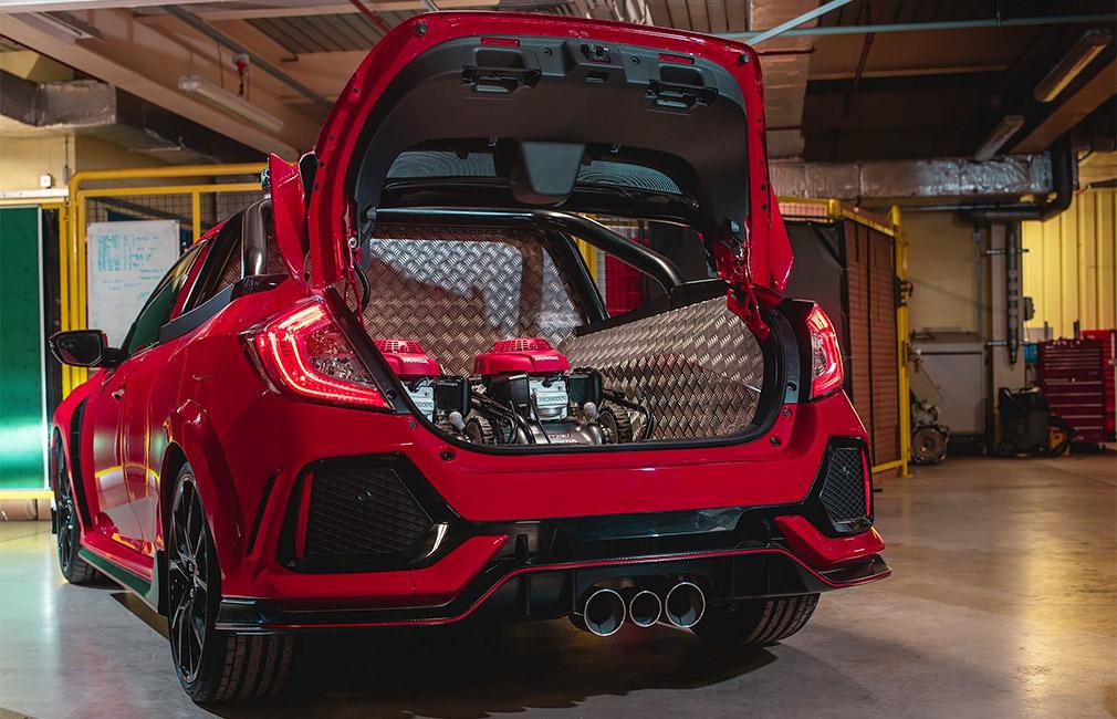Honda создала «заряженный» пикап на основе Honda Civic Type R