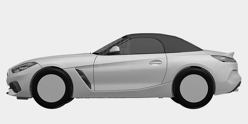 Дизайн BMW Z4 рассекречен до премьеры на патентных изображениях