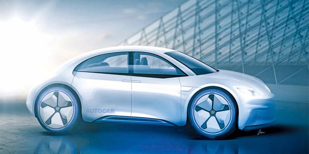 Новый Volkswagen Beetle превратят в четырехдверный электромобиль
