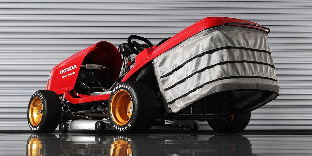 Honda создала сверхбыструю газонокосилку Mean Mower V2 для рекорда