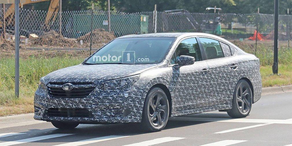 Седана Subaru Legacy нового поколения был замечен на тестах