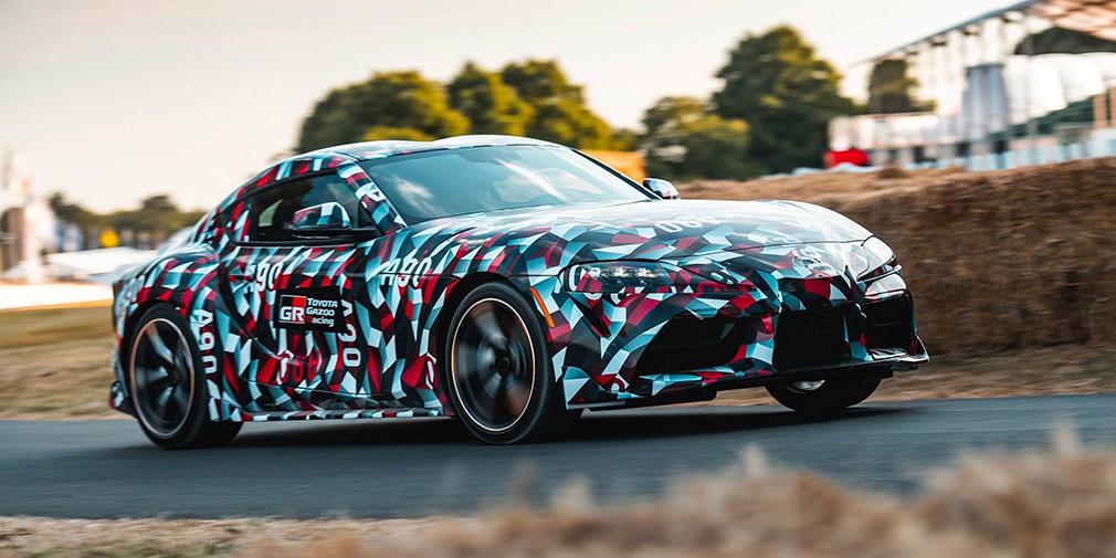 Новая Toyota Supra получила необычный камуфляж от военного линкора