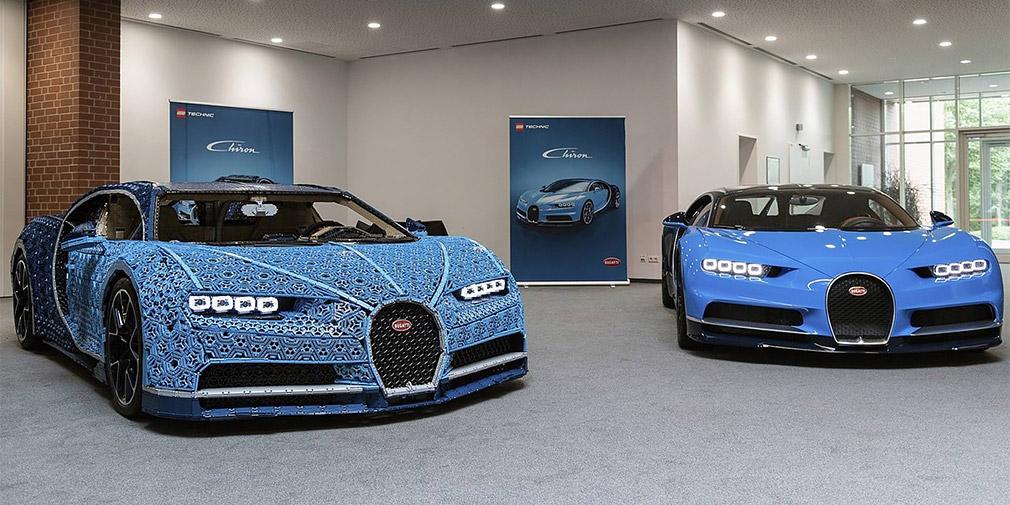 Lego построила полноразмерный Bugatti Chiron с 5-сильным двигателем