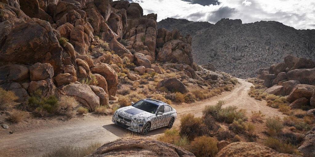 Новый BMW 3-Series показали на фото с испытаний в Долине Смерти