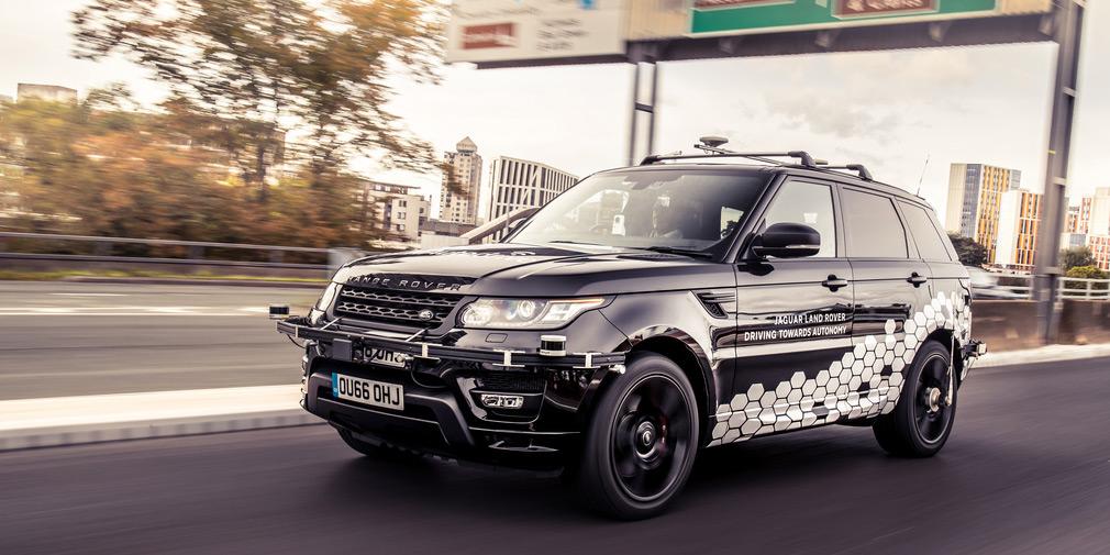 Беспилотный внедорожник Range Rover Sport прошел сложное испытание