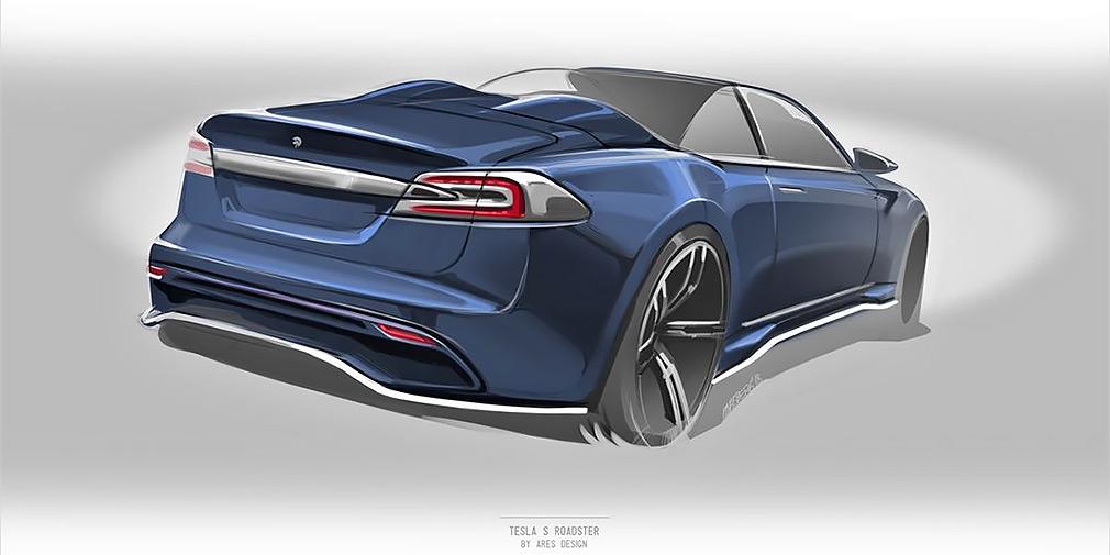 Тюнинг-ателье Ares Design готовит родстер на базе Tesla Model S