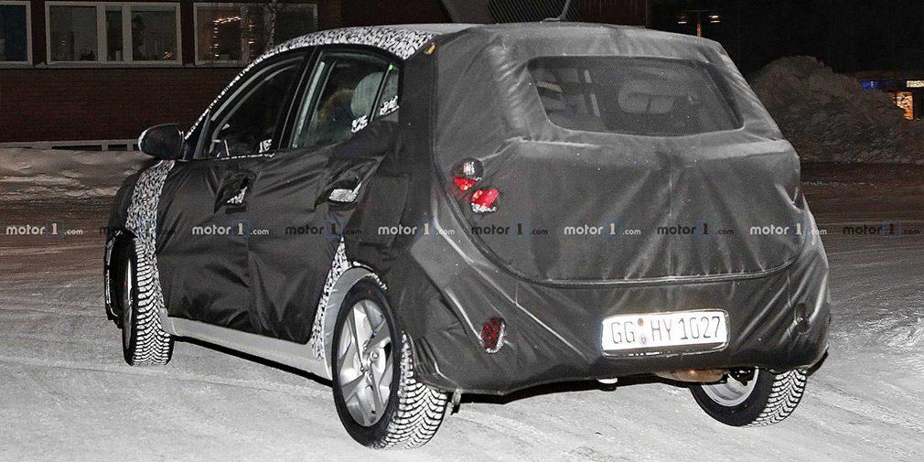 Новый хэтчбек Hyundai i10 показался на первых шпионских фото
