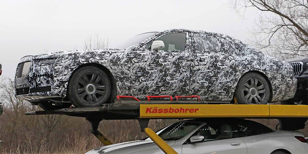 Шпионские фото нового Rolls-Royce Ghost впервые попали в Сеть