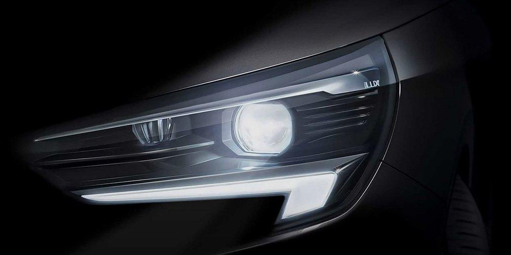 Opel показал первый тизер с оптикой новой Opel Corsa