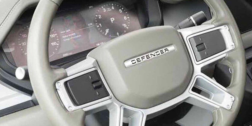 В Сети опубликован первый снимок салона нового Land Rover Defender