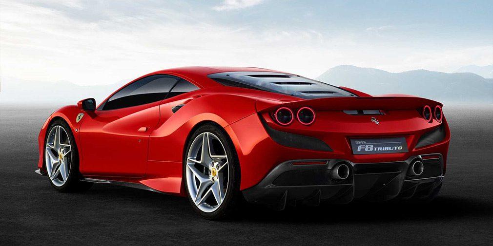 Компания Ferrari показала новый суперкар Ferrari F8 Tributo