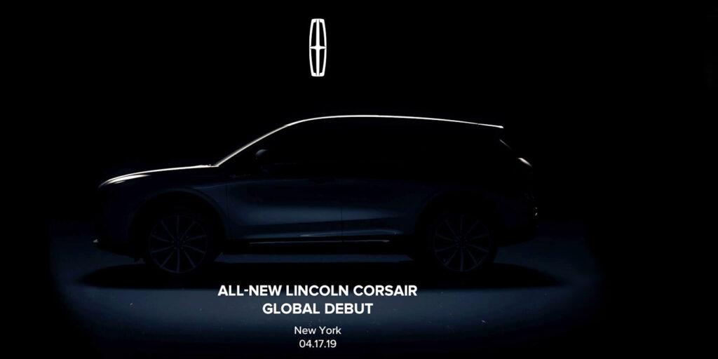 Lincoln на тизере показал силуэт нового кроссовера Corsair