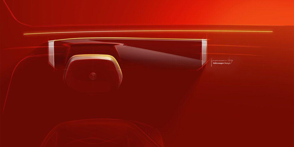 Volkswagen показал салон нового электрического кроссовера Roomzz