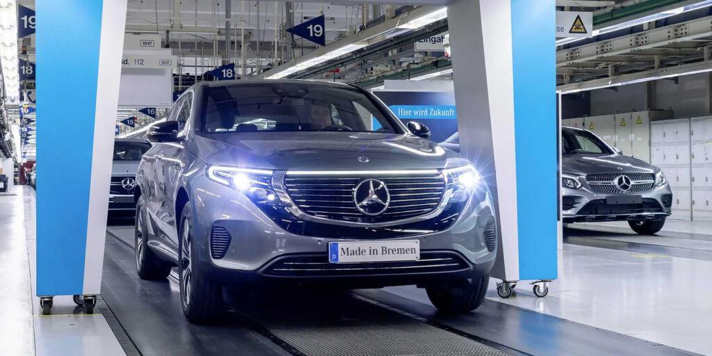 Mercedes запустил производство электрического кроссовера EQC