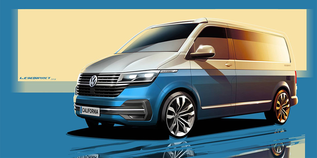 Обновленный Volkswagen California представлен на дизайн-скетче