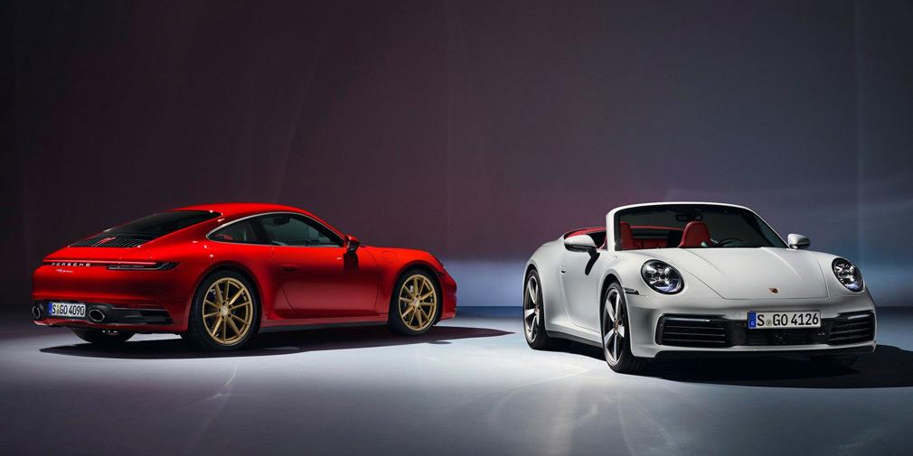 Купе и кабриолет Porsche 911 Carrera стали доступны для заказа в РФ