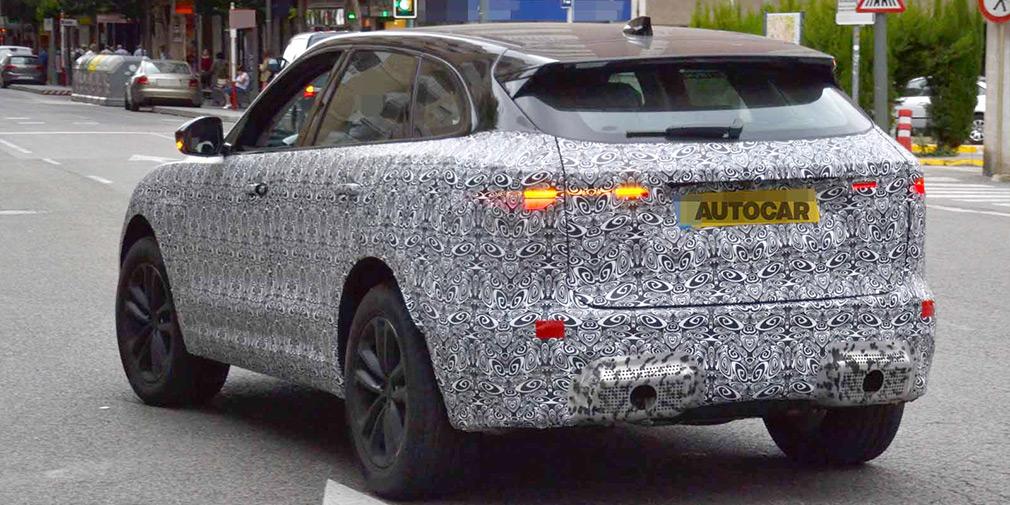 Обновлённый кроссовер Jaguar F-Pace впервые замечен на тестах