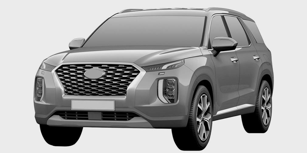 Hyundai запатентовала в РФ большой кроссовер Hyundai Palisade