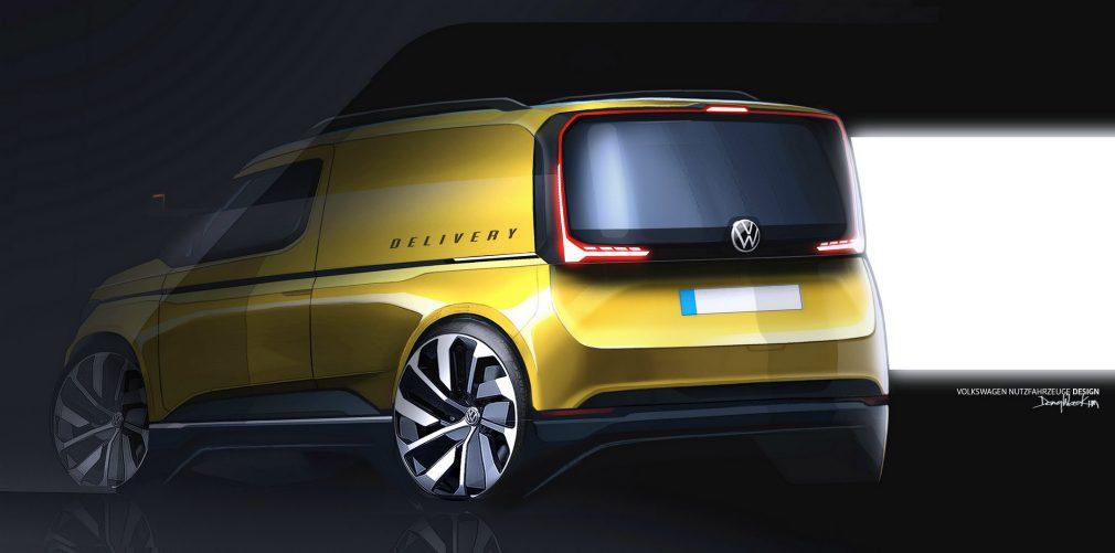 Опубликовали скетчи нового Volkswagen Caddy