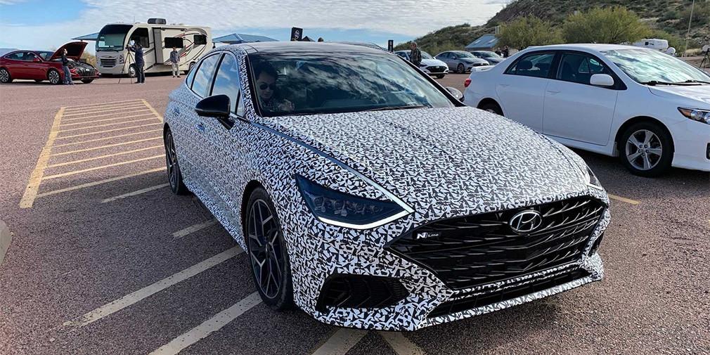 Названа дата премьеры самой мощной и быстрой Hyundai Sonata