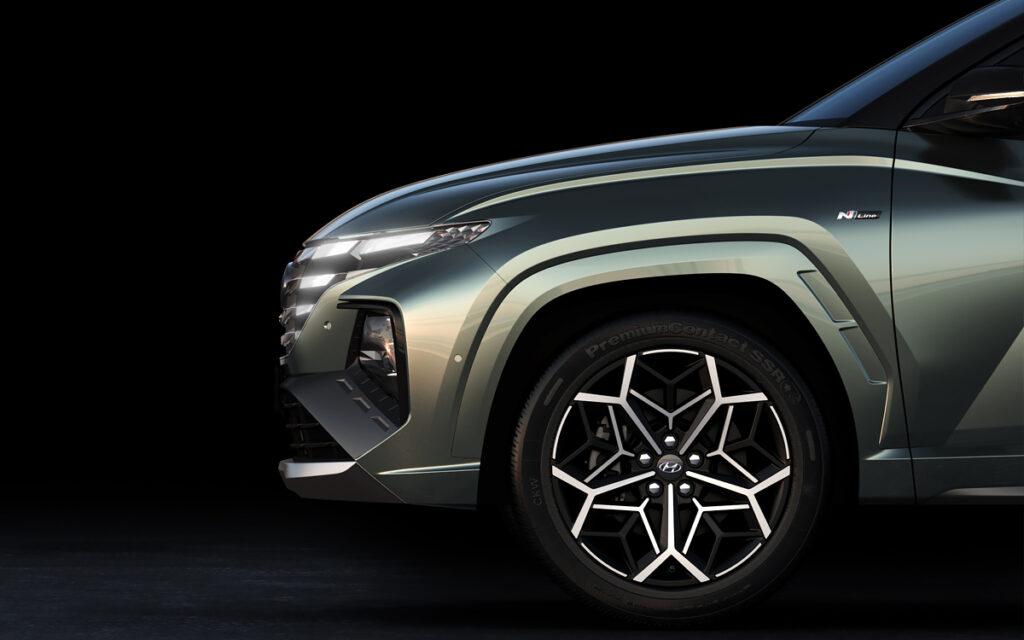 Hyundai раскрыл внешность самой мощной версии кроссовера Tucson